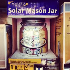 Mason jar? Check! Mercury glass? Check! Warm glow? Check! This solar mason jar would make the perfect addition to an outdoor space, no flame required! #heartoutdoors