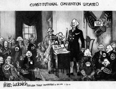 political cartoons | Constitutional Convention Updated - Political Cartoon