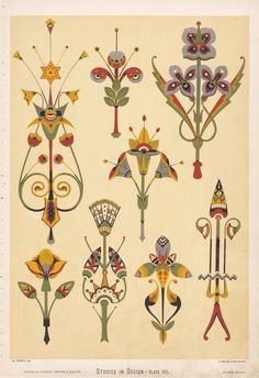 Christopher Dresser, Studies in Design, 1876. Via NYPL