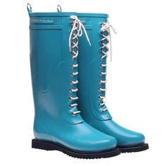 Want Scale: 3     Lace Up Rainboot (tall; turquois, Ilse Jacobsen)     Fab