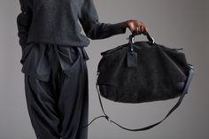 Emporio Armani Duffle Comme des Garcons Sweater and Gauchos Designer Vintage Clothing Minimal Fashion