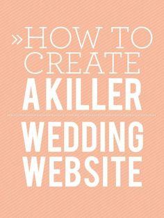 How To Create A Killer Wedding Website
