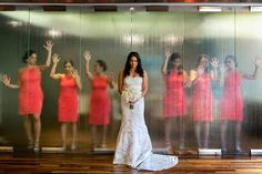creative bridal party portrait seven-degrees laguna beach wedding