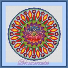 (10) Name: 'Embroidery : Cross stitch pattern Flower Power
