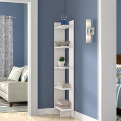 Zipcode Design Lynnfield Corner Bookcase Color (Body/Front): White, Size: Shelves) H x W x D Living Room Furniture, Home Furniture, Living Room Decor, Bedroom Decor, Rustic Furniture, Furniture Shopping, Furniture Makeover, Antique Furniture, Dining Room
