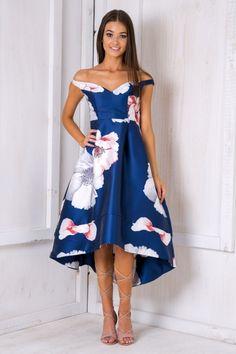 Navy Floral Hazel Race Day Dress - $95.00  #stellyclothing #navy #race #dress #floral #flowery #springrace #spring #summer #formal #prom #eveningdress