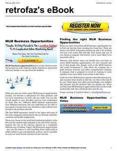 mlm-business-opportunities-16834016 by retrofaz via Slideshare