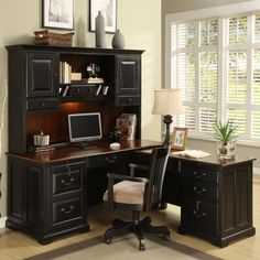Riverside Furniture Bridgeport 2-Piece L-Shape Desk Office Suite