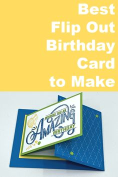 Ready to see the best flip out birthday card you can make today? I love showing you how to make homemade birthday cards and this one works for anyone. Creative Birthday Cards, Homemade Birthday Cards, Masculine Birthday Cards, Birthday Cards For Men, Birthday Greeting Cards, Birthday Cards To Make, Homemade Cards For Men, Cricut Birthday Cards, Diy Birthday