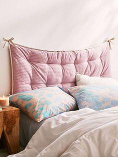 Convertible Corduroy Headboard Pillow in pink. / sfgirlbybay
