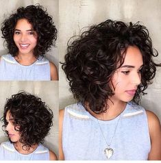 Short Wavy Haircut With Natural Roots Short Wavy Copper Red Short Texturized Bob Blue Metallic Wavy Hair Textured Pixie Cut Wavy A-Line Bob Textured Curly Pixie Undercut Wavy Bob Wavy Layered A-Line Bob Blonde Short Wavy Hair Bob Haircut Curly, Curly Hair Cuts, Short Hair Cuts, Curly Hair Styles, Curly Hair Layers, Medium Curly Bob, Short Layered Curly Hair, Medium Curls, Bob Hairstyles 2018