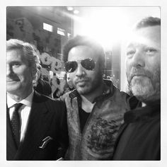 Kartell Goes Rock @ Fuorisalone 2012 | Claudio Luti with Lenny Kravitz and Philippe Starck