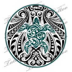 A flowing Polynesian Honu design of a sea turtle with geometric tribal Samoan pattern. Ta Moko Tattoo, Hawaiianisches Tattoo, Samoan Tattoo, Tattoo Pics, Armband Tattoo, Polynesian Designs, Polynesian Art, Maori Tattoo Designs, Polynesian Tattoos