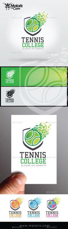 Tennis College Logo Template #design #logotype Download: http://graphicriver.net/item/tennis-college-logo/8938579?ref=ksioks