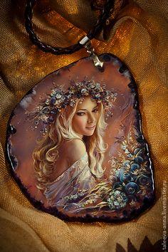 """Кулон """"Черника"""" - черника,камень,кулон,подарок,женщина,миниатюра,камень натуральный"""