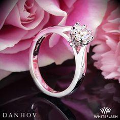 Danhov Classico Single Shank Solitaire Engagement Ring.