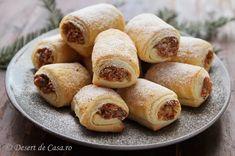 Prajitura Cremsnit - DesertdeCasa.ro - Maria Popa Pretzel Bites, Sausage, Food And Drink, Cooking Recipes, Favorite Recipes, Sweets, Bread, Desserts, Cakes