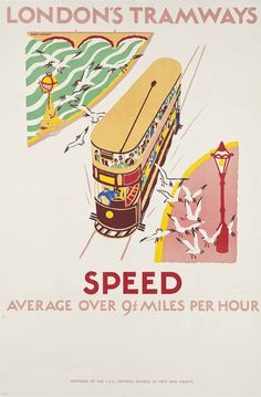 LONDON'S TRAMWAYS, SPEED by Mary I. Wright - 9.5 mph!!!!