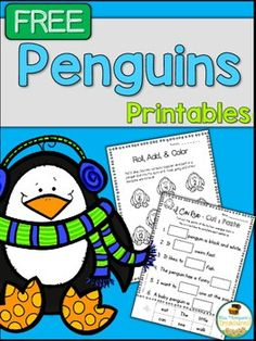 All About Penguins - print and go math and literacy activities - FREE sample Tacky The Penguin, Penguin Day, Penguin Craft, All About Penguins, Penguins And Polar Bears, Baby Penguins, Kindergarten Science, Literacy Activities, Winter Activities