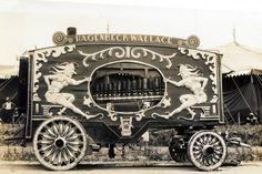 The sepia version of this calliope is much better than the color photos   - PaperCalliope.com  #circus #calliope  #papercalliope