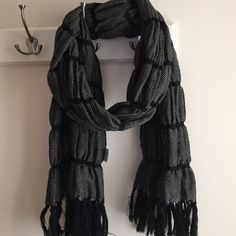Scarf Black and gray scarf. Never worn Accessories Scarves & Wraps