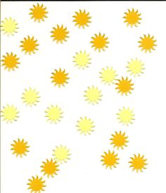 Sun Punchies   Assorted Colors  1/2 inch   75 by sagebrush12, $3.00