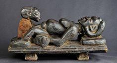 SCENE ACCOUCHEMENT CAMEROUN BANGWA BAMILEKE ART PREMIER AFRICAN WOOD STATUE | eBay