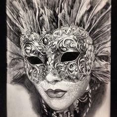 Masquerade Masks Drawings #venetian #mask #masquerade