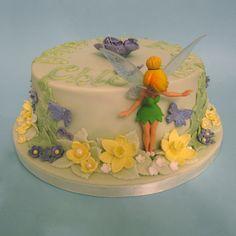 Jasmine Birthday Cake, Tinkerbell Birthday Cakes, Fairy Birthday Cake, Cute Birthday Cakes, Tinkerbell Party, Birthday Ideas, Chocolate Mud Cake, Homemade Chocolate, Bolo Tinker Bell