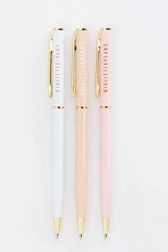 Little Series Ballpoint Metal Pen - Big Little Series Ballpoint Metal Pen by esselle SF. Cool Stationary, Stationary Notebook, Stationary Supplies, Cute Stationery, Stationary Design, College Stationary, Cute School Stationary, Fancy Pens, School Pens