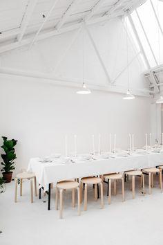 Rye London kitchen's extra long DIY dining table with Ikea stools Table Ikea, Ikea Stool, A Table, Dining Table, Dining Rooms, Dining Set, Fine Dining, Interior Stylist, Interior Design