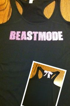 Beastmode Racerback Workout Tank Top by RufflesWithLove on Etsy, $22.00. My rugby girls would love this!