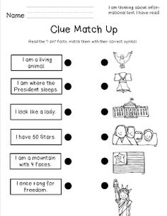 Worksheet Symbolism Worksheets a well worksheets for kindergarten and statue of on pinterest american symbols