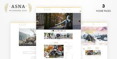 Asna is a lovely and beautiful and Creative Blog theme WordPress #ad