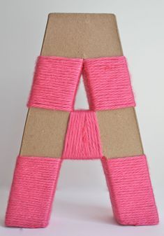 Yarn-Wrapped Letters - Honest To Nod Yarn Wrapped Letters, Yarn Letters, Diy Letters, Letter A Crafts, Yarn Covered Letters, Cover Letters, Letter Art, Cute Crafts, Yarn Crafts