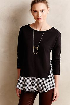 Skirted Plaid Pullover #anthrofave #anthropologie.com