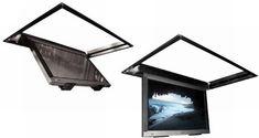 Ceiling Swing Down TV Bracket | FLATLIFT® TV LIFT mechanism, Plasma TV lift cabinet, television lift