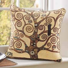 £19.99 Tapestry cushion reproducing a detail from Gustav Klimt's mural 'The Tree of Life', 1905.