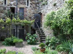 Medieval Herb Garden, Ypres Tower, Rye, East Sussex.   A re-creation of a medieval herb garden in what was the former prison excercise yard and although this can only be opened on special occasions, it can be viewed from the balcony.