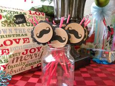 12 Pack Mustache and/or Lips Cocktail Beverage Straws. $6.95, via Etsy..... B does love mustaches!