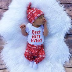 best gift ever baby girl christmas outfit newborn christmas outfit ...