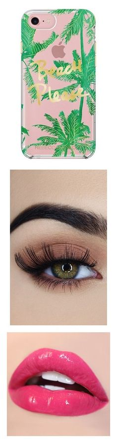 """""""Cece"""" by channah10 ❤ liked on Polyvore featuring accessories, tech accessories, fillers, phone, green, rebecca minkoff, beauty products, makeup, eye makeup and false eyelashes"""