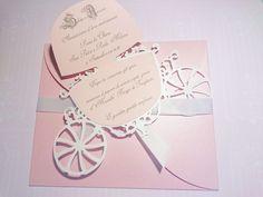 Partecipazione nozze in carta rosa perlata per le spose piu' romantiche collezione 2016-2017