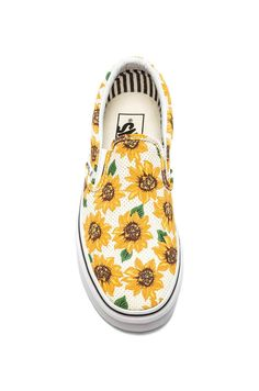Shop for Vans Classic Sunflower Slip On in True White at REVOLVE. 446dcae4b