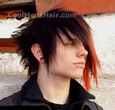 emo men long haircuts | emo hair emo a subculture of punk is all about