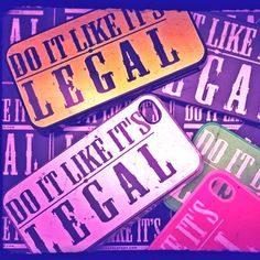 FREE DELIVERY WORLDWIDE on all #doitlikeitslegal phone cases at www.decsandlondon.com