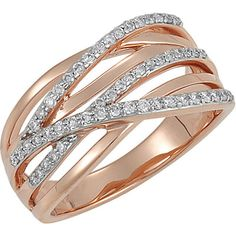 Diamond Rose Gold Ring available at Houston Jewelry!