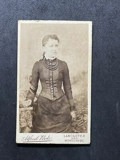 Of a photograph of : Victorian person / scene :see above for any details. Lancaster, Morecambe, See Picture, Photograph, Scene, Victorian, Portrait, Antiques, Lady
