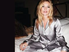 The final fashion collection by Kate Moss for Topshop includes several lingerie pieces displaying vintage and oriental themes. Pyjama Satin, Pink Satin Dress, Satin Pajamas, Satin Dresses, Pyjamas, Cozy Pajamas, Satin Sleepwear, Topshop Lingerie, Satin Lingerie