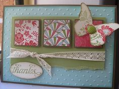Liking my own work here ;-)  Stampin Up card